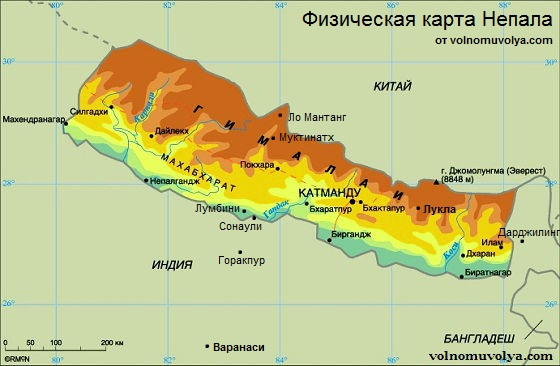 phisycal-map-of-nepal