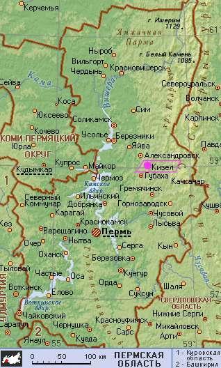 пермский край карта