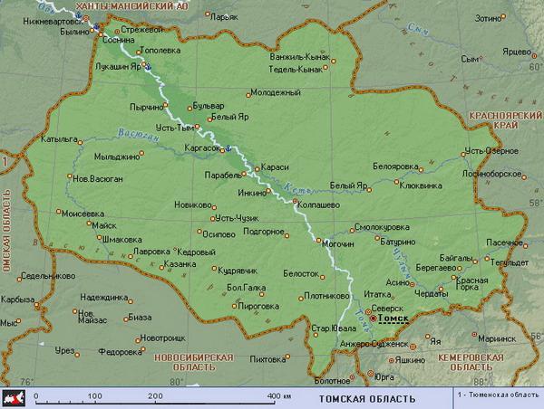 томская область карта