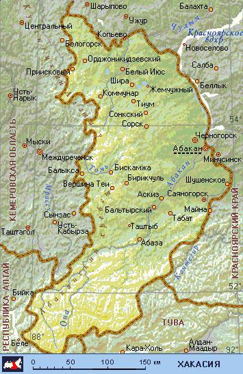 хакасия карта