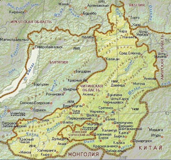 читинская карта