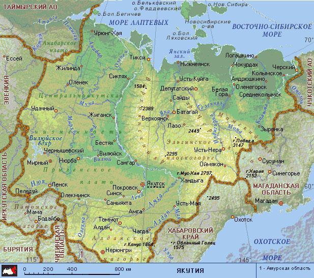 якутия карта