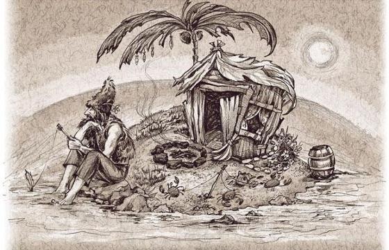 Человек на необитаемом острове