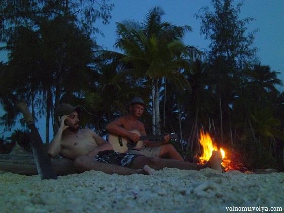 Олег и Макс в индонезии на острове най